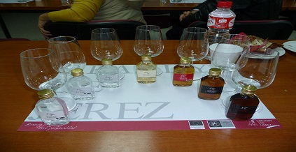 de Jerez (Sherry) tasting session in University of Cadiz